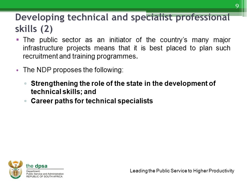 Developing technical and specialist professional skills (2)