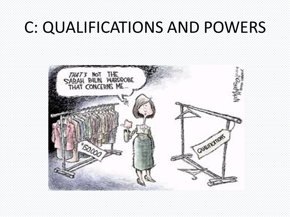 C: QUALIFICATIONS AND POWERS