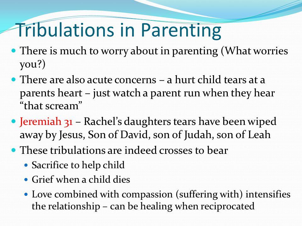 Tribulations in Parenting