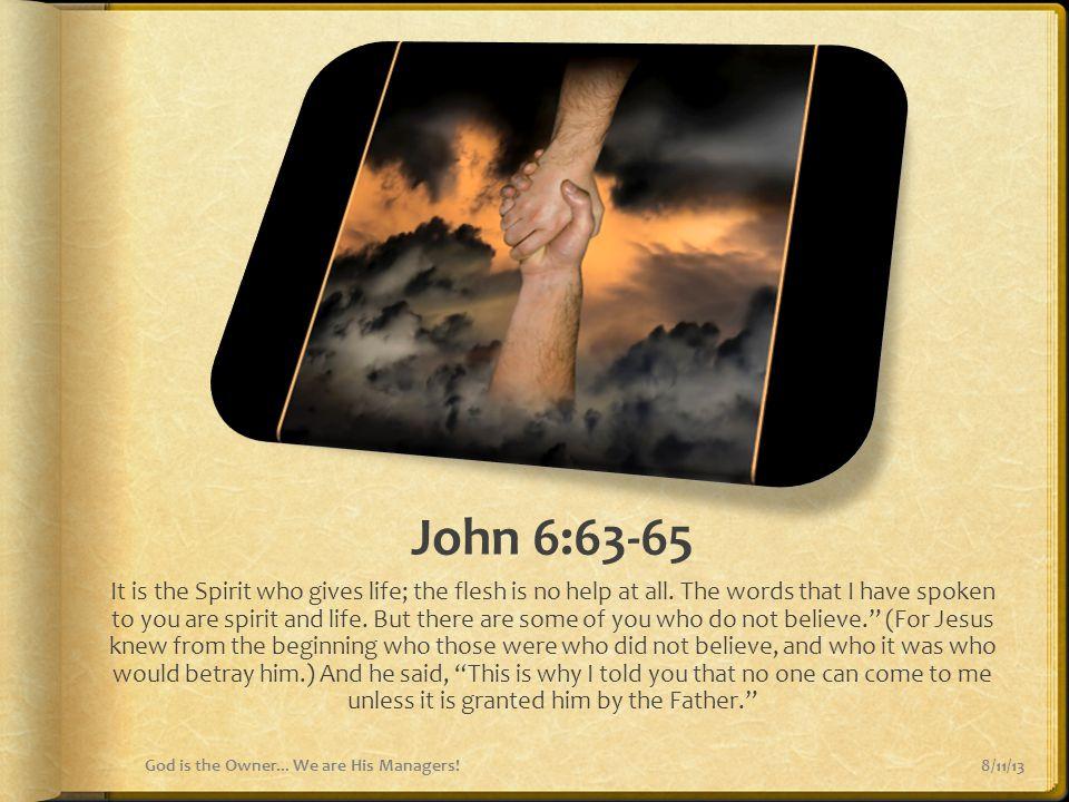 John 6:63-65