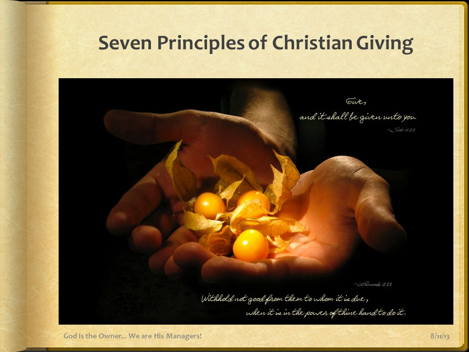 Seven Principles of Christian Giving