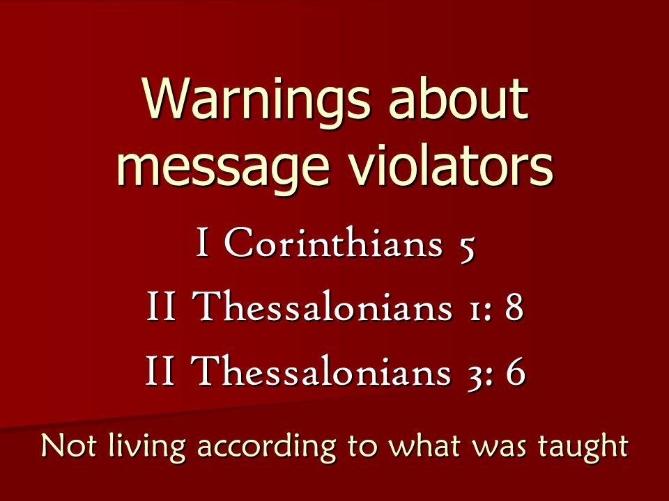 Warnings about message violators