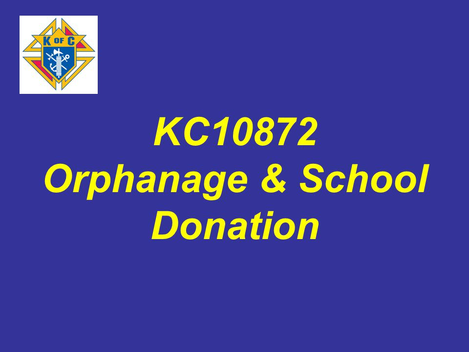 KC10872 Orphanage & School Donation