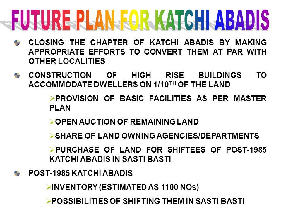 FUTURE PLAN FOR KATCHI ABADIS