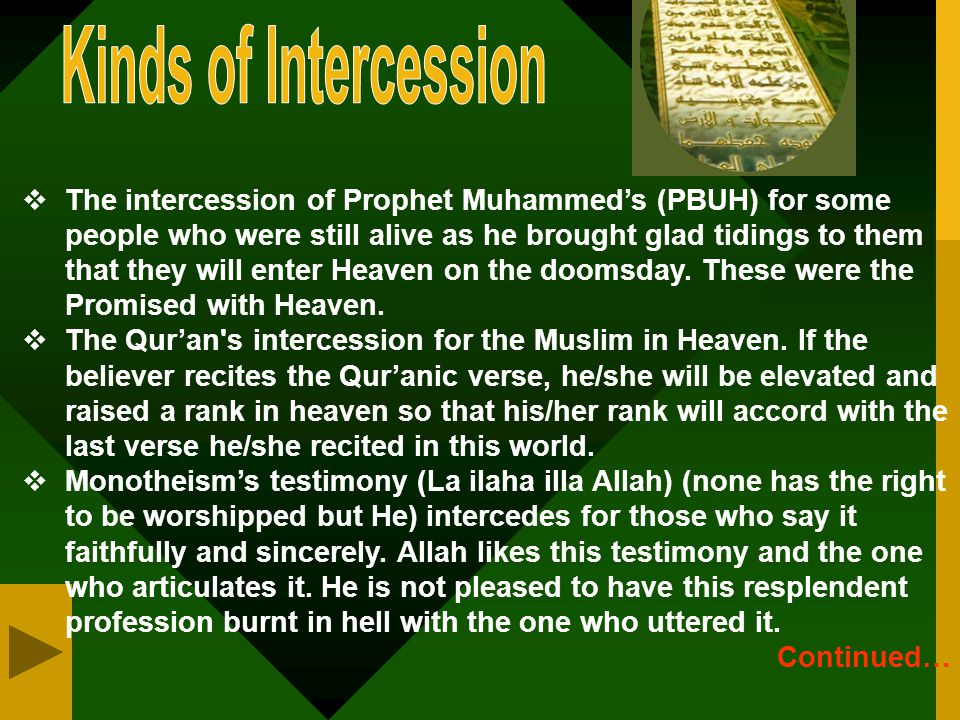 Kinds of Intercession