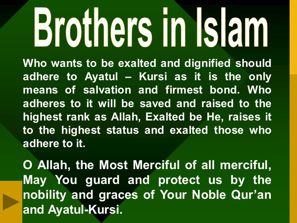 Brothers in Islam