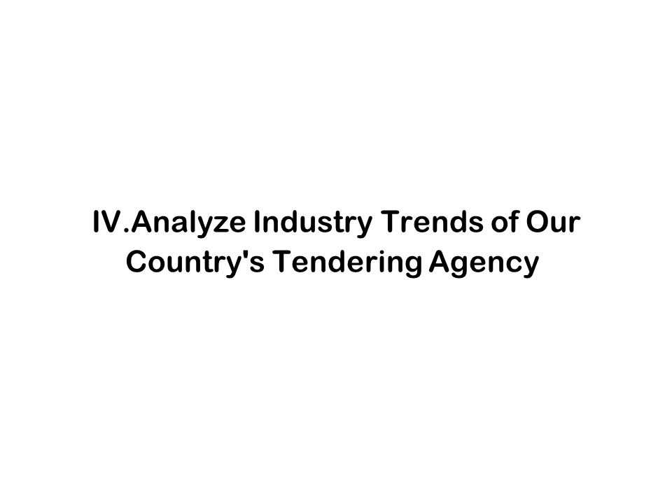 IV.Analyze Industry Trends of Our Country s Tendering Agency