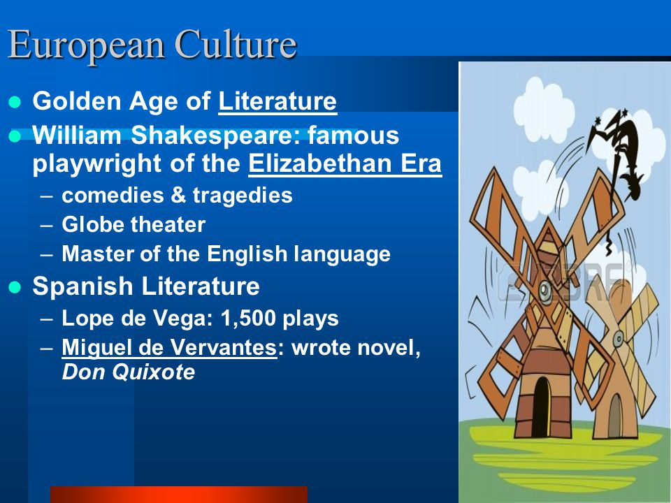 European Culture Golden Age of Literature