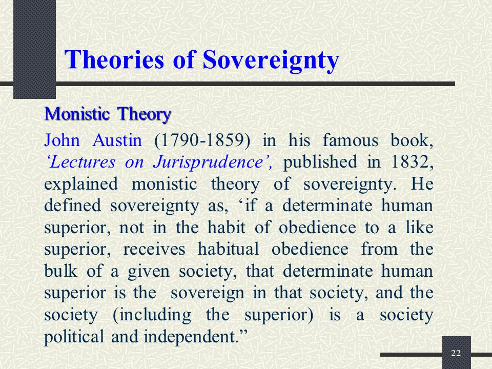 Theories of Sovereignty
