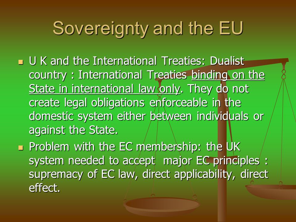 Sovereignty and the EU
