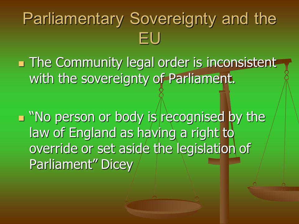 Parliamentary Sovereignty and the EU