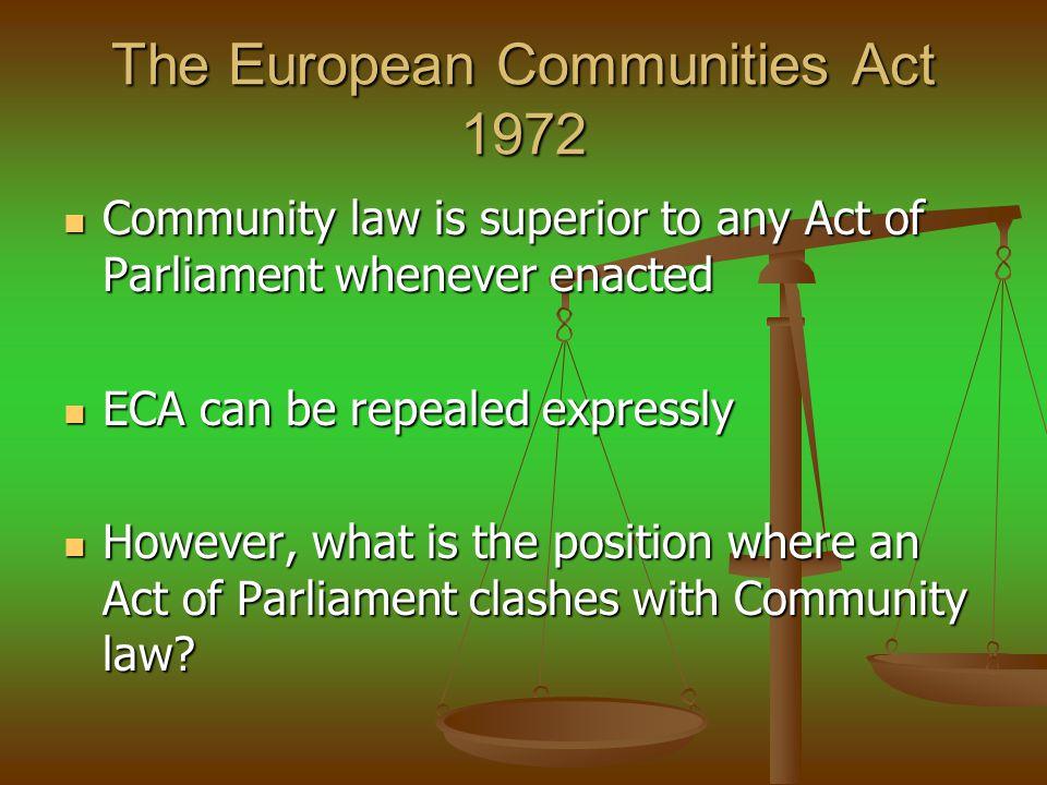 The European Communities Act 1972
