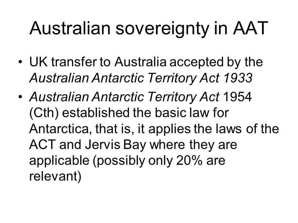 Australian sovereignty in AAT