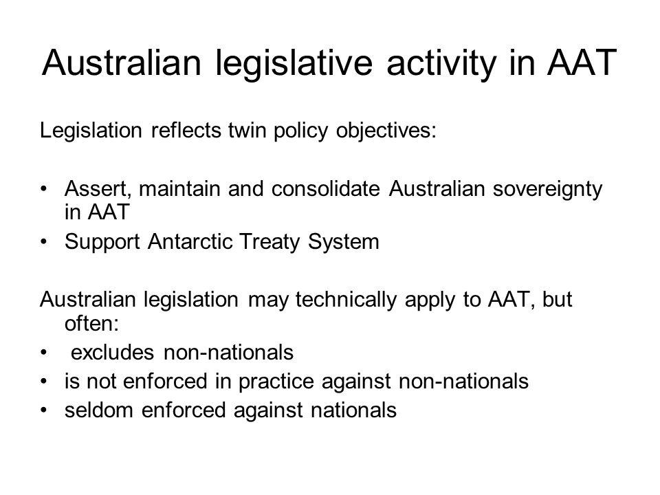 Australian legislative activity in AAT
