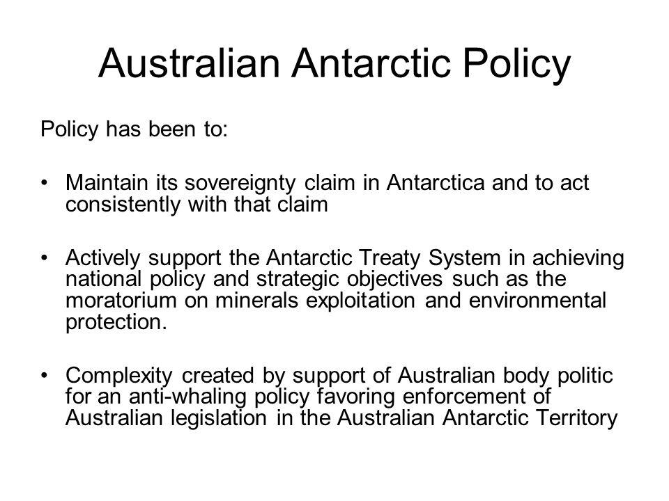 Australian Antarctic Policy