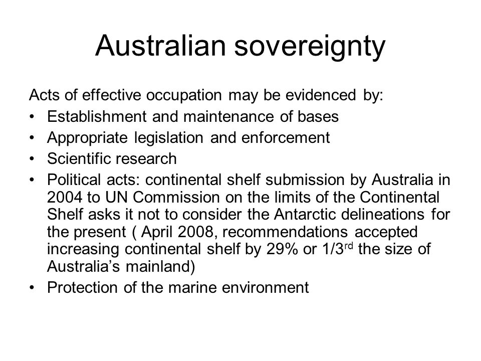 Australian sovereignty