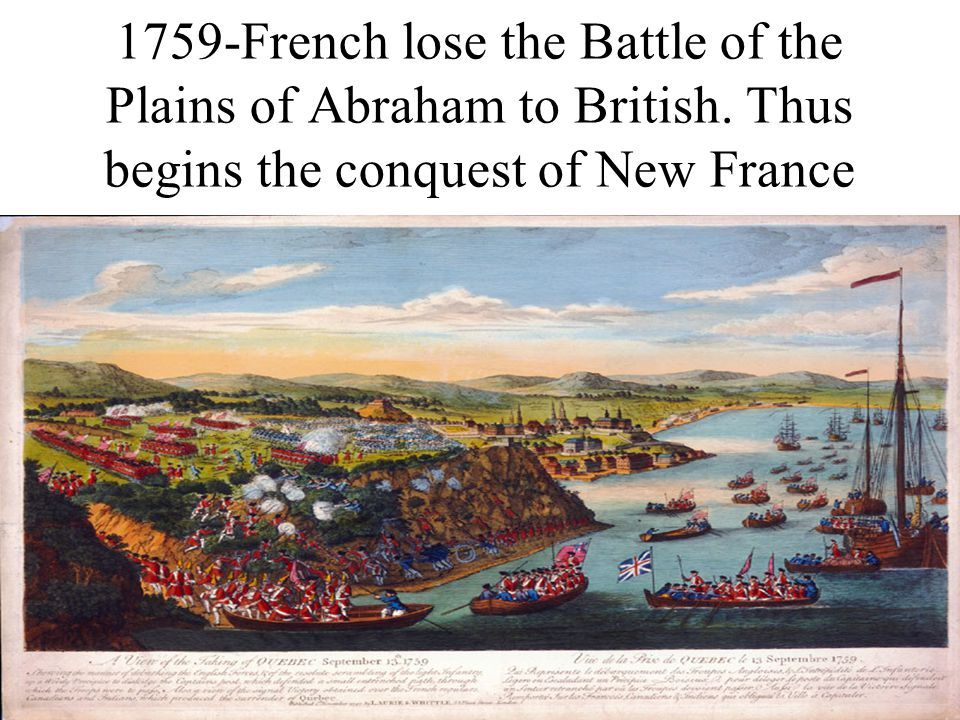 1759-French lose the Battle of the Plains of Abraham to British