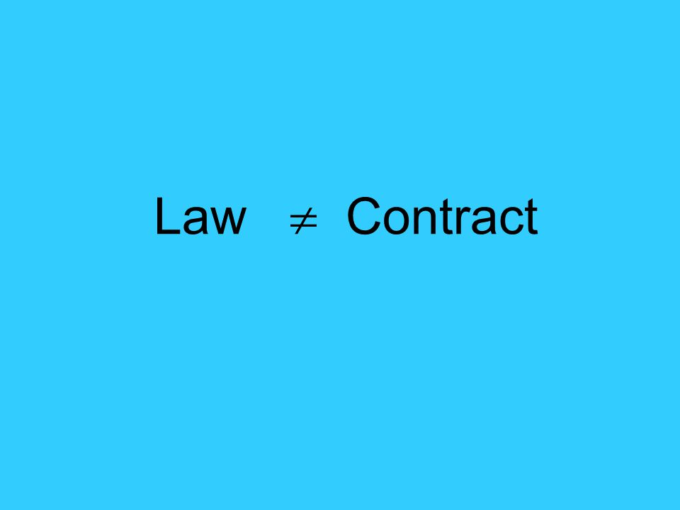 Law  Contract