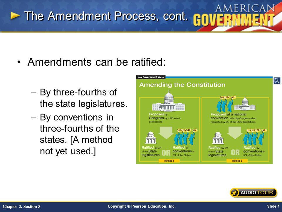 The Amendment Process, cont.