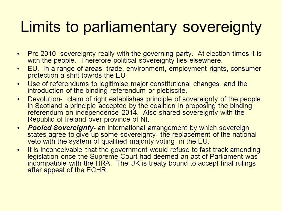 Limits to parliamentary sovereignty