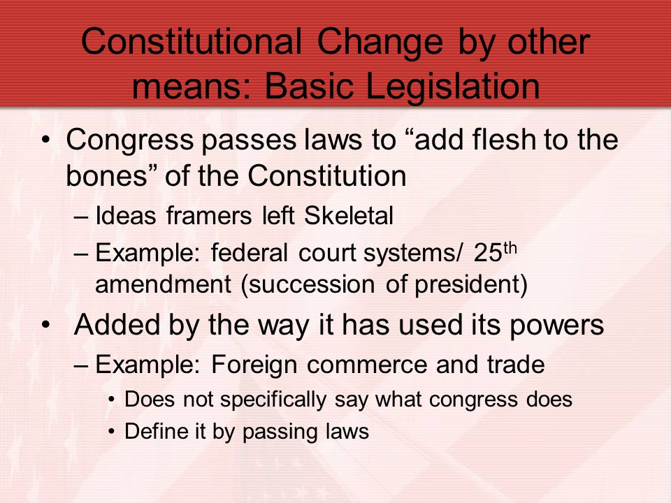 Constitutional Change by other means: Basic Legislation