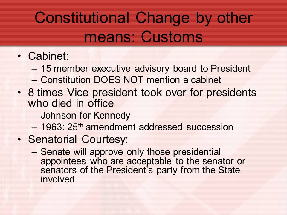 Constitutional Change by other means: Customs