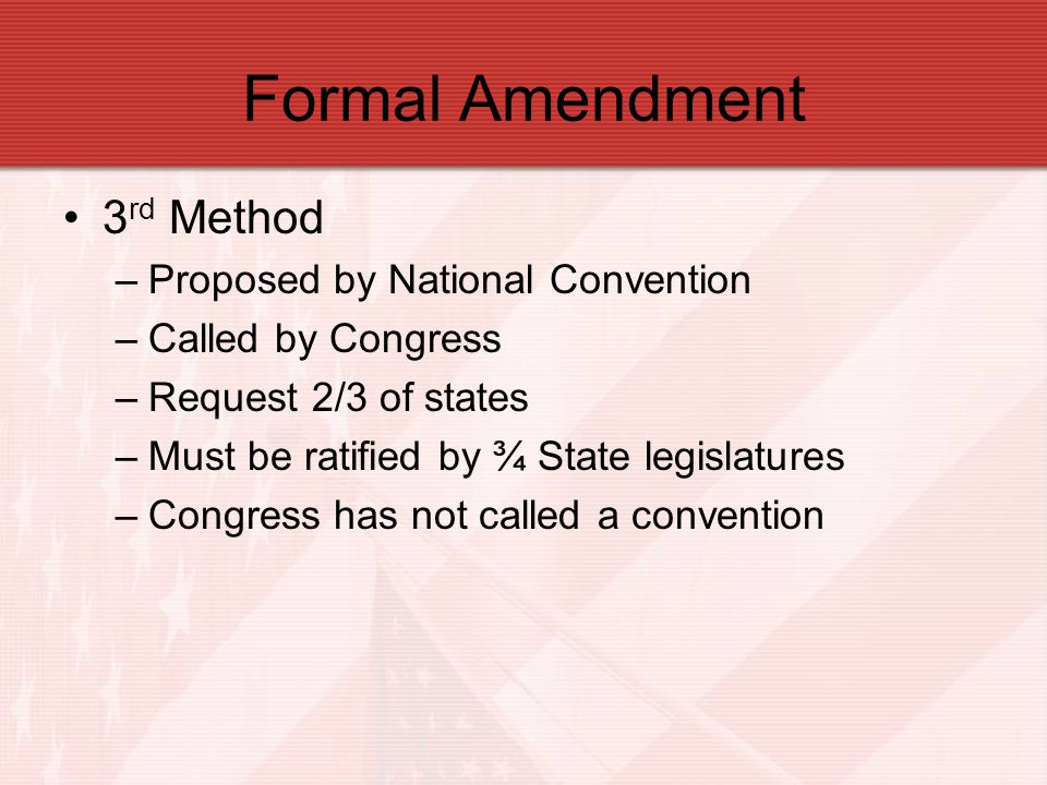 Formal Amendment 3rd Method Proposed by National Convention