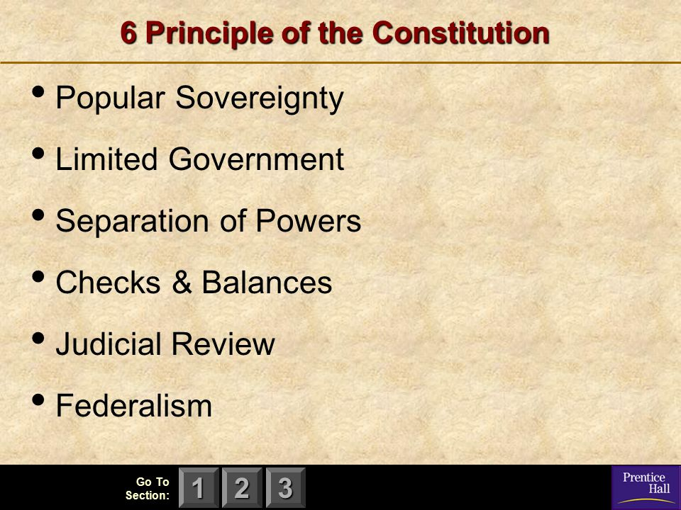6 Principle of the Constitution