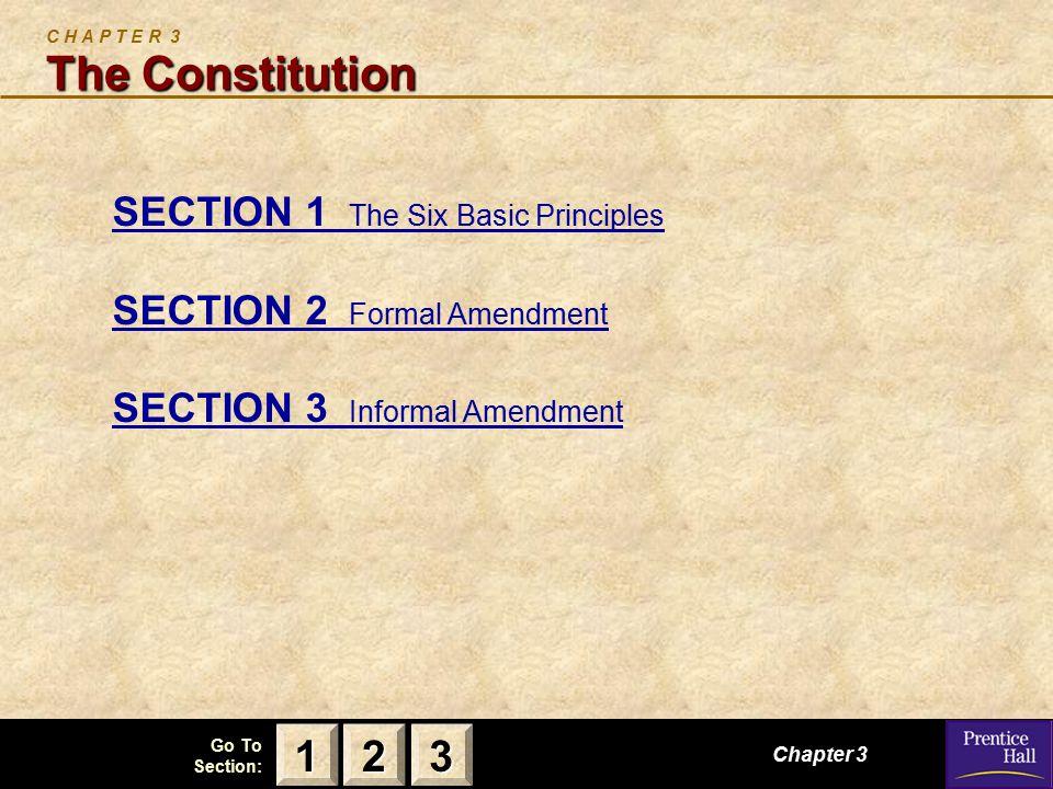 C H A P T E R 3 The Constitution