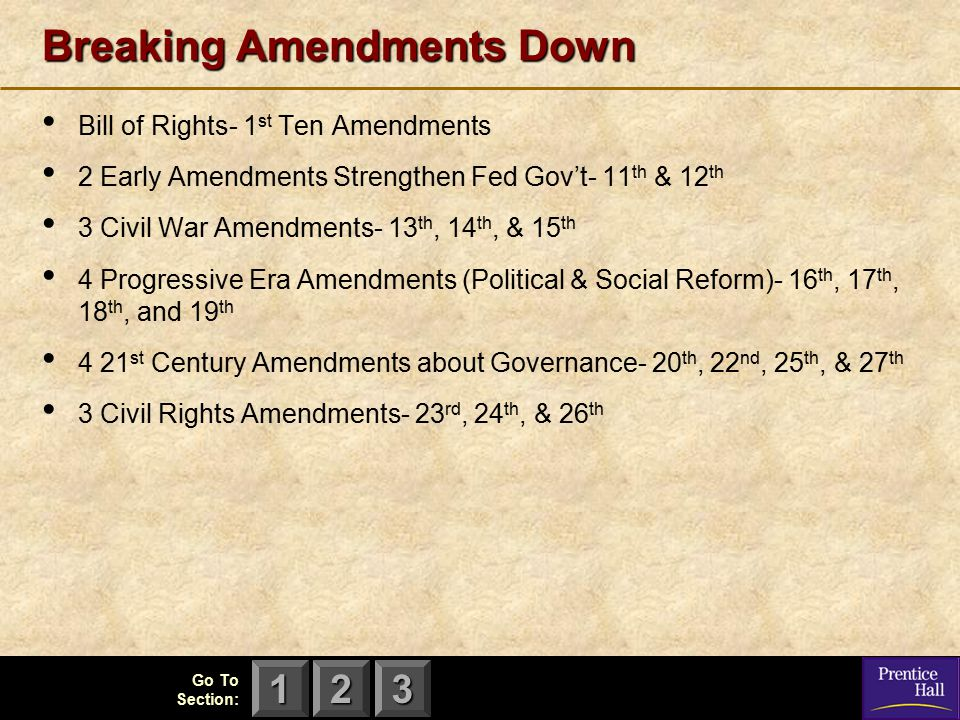 Breaking Amendments Down