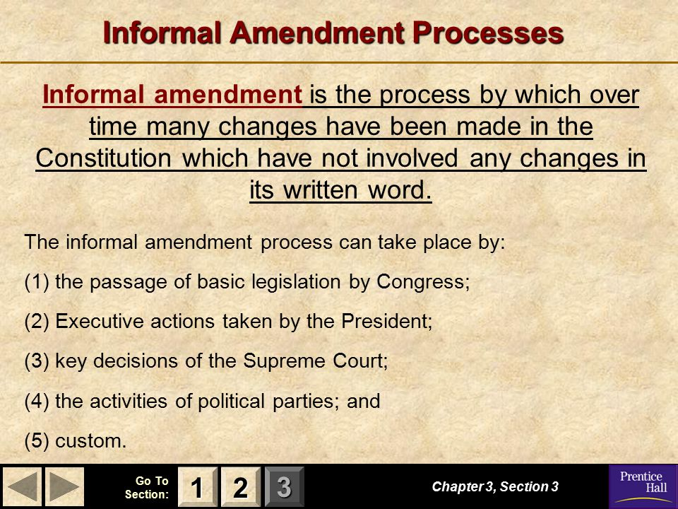 Informal Amendment Processes