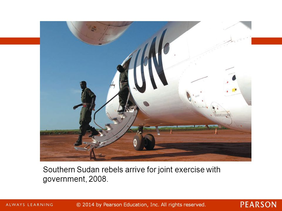 Southern Sudan rebels arrive for joint exercise with government, 2008.