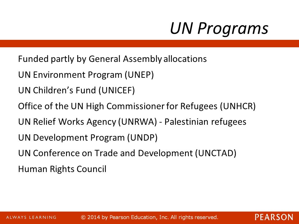 UN Programs