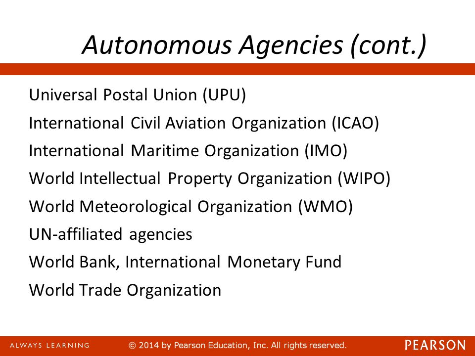 Autonomous Agencies (cont.)