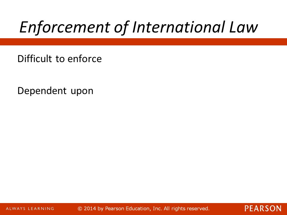 Enforcement of International Law