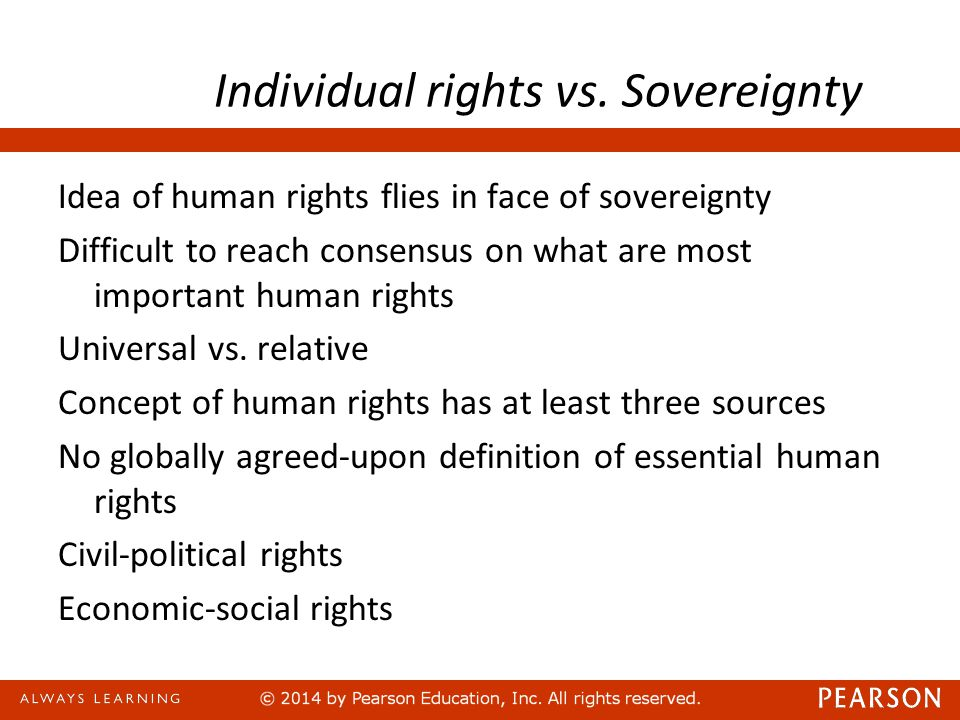 Individual rights vs. Sovereignty