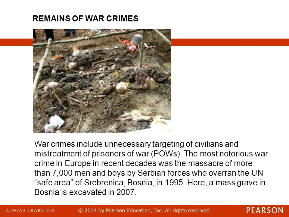 REMAINS OF WAR CRIMES