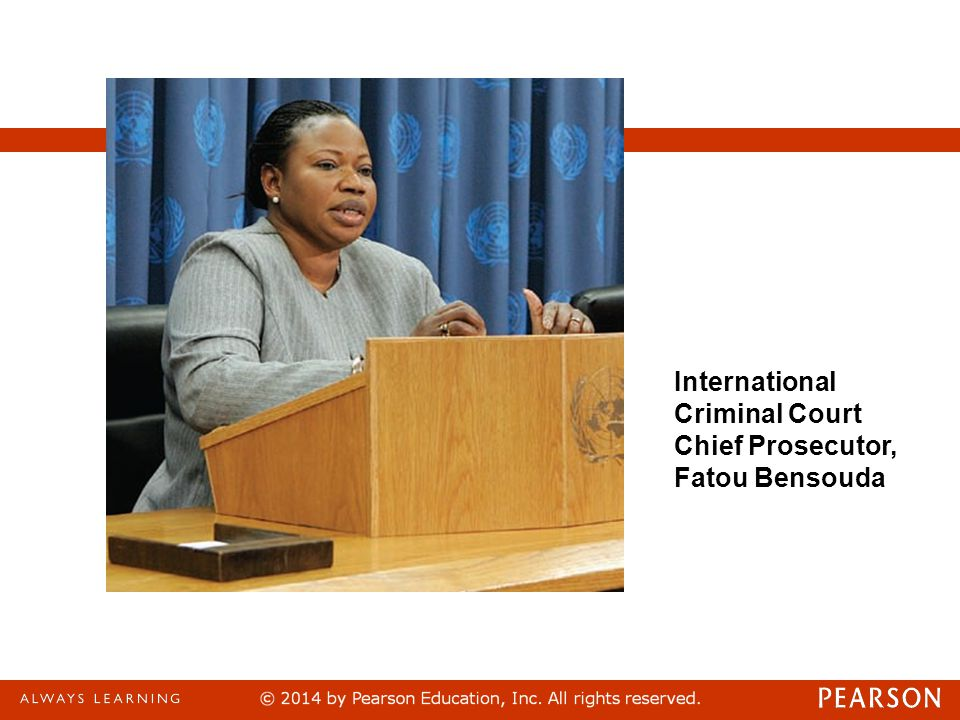 International Criminal Court Chief Prosecutor, Fatou Bensouda