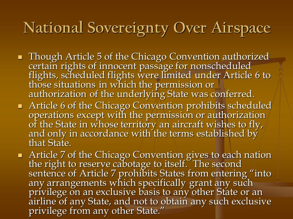National Sovereignty Over Airspace