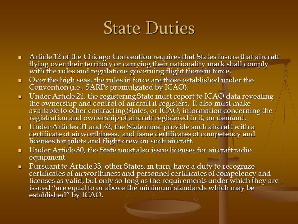 State Duties