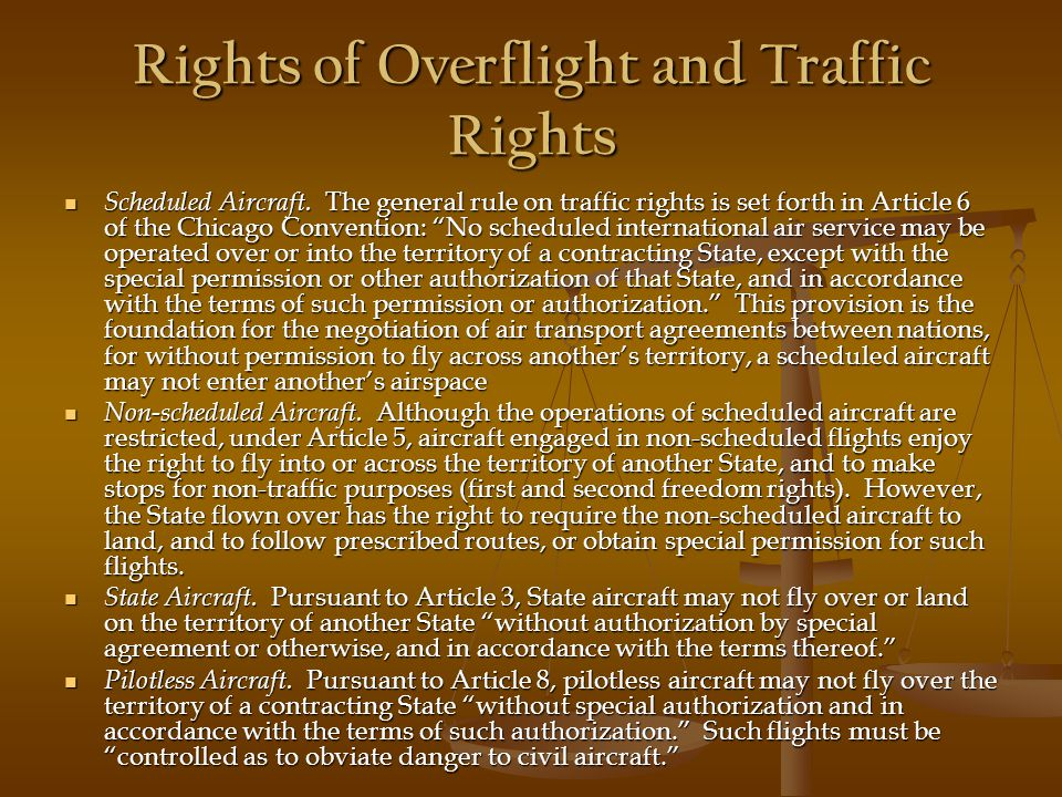Rights of Overflight and Traffic Rights