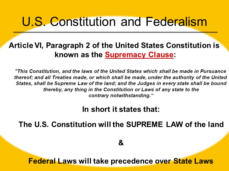 U.S. Constitution and Federalism