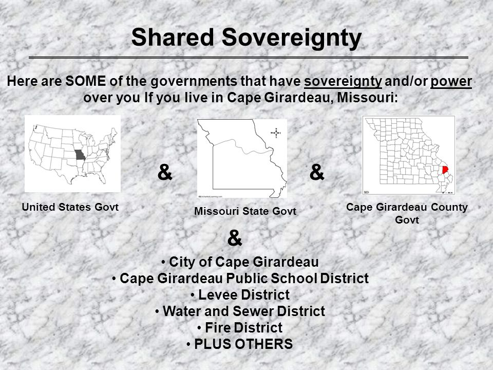 Shared Sovereignty & & &