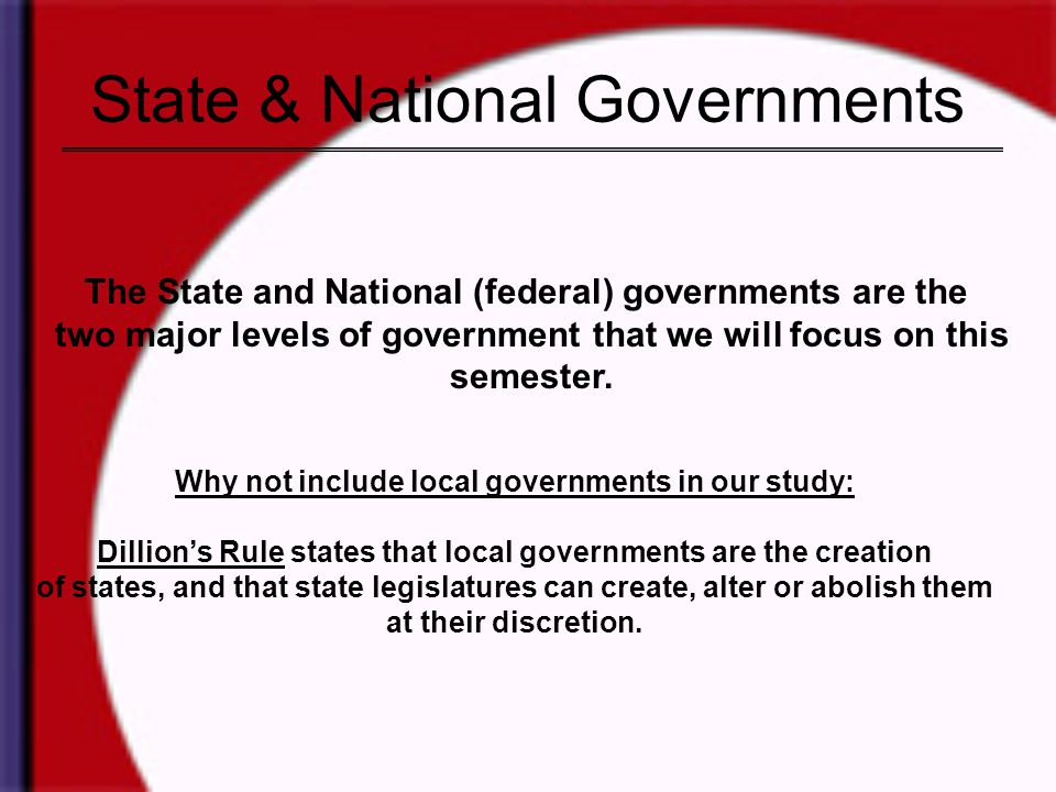 State & National Governments
