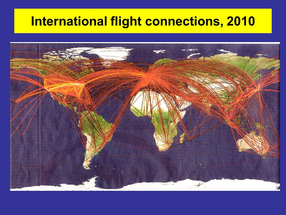 International flight connections, 2010
