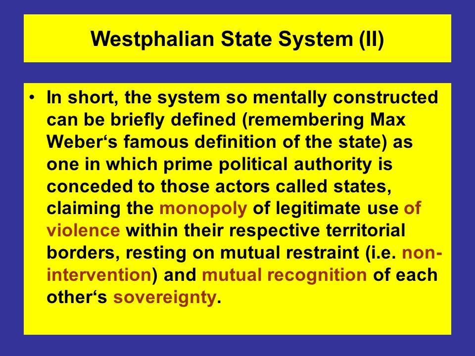 Westphalian State System (II)