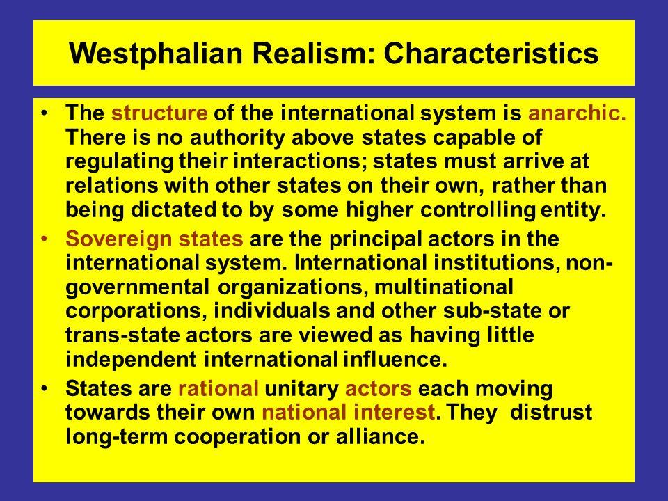 Westphalian Realism: Characteristics