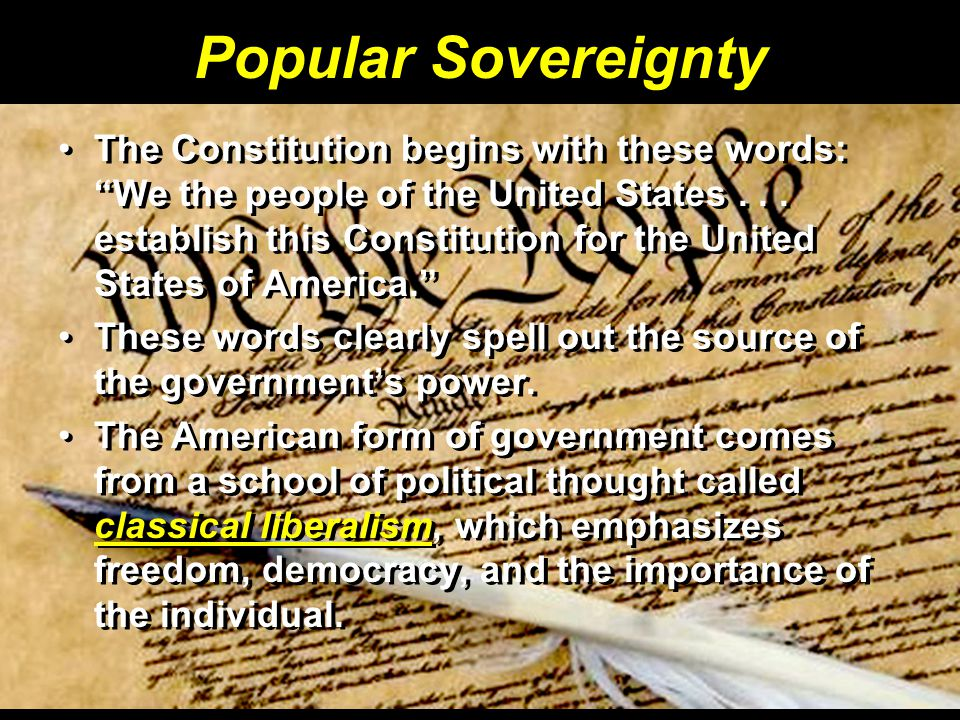 Popular Sovereignty