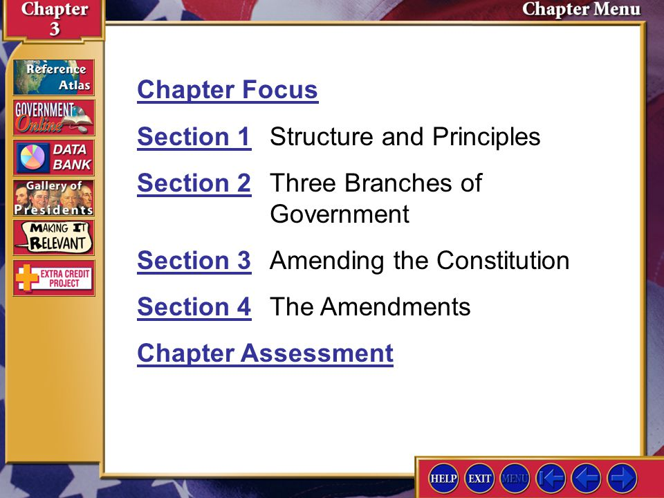Section 1 Structure and Principles