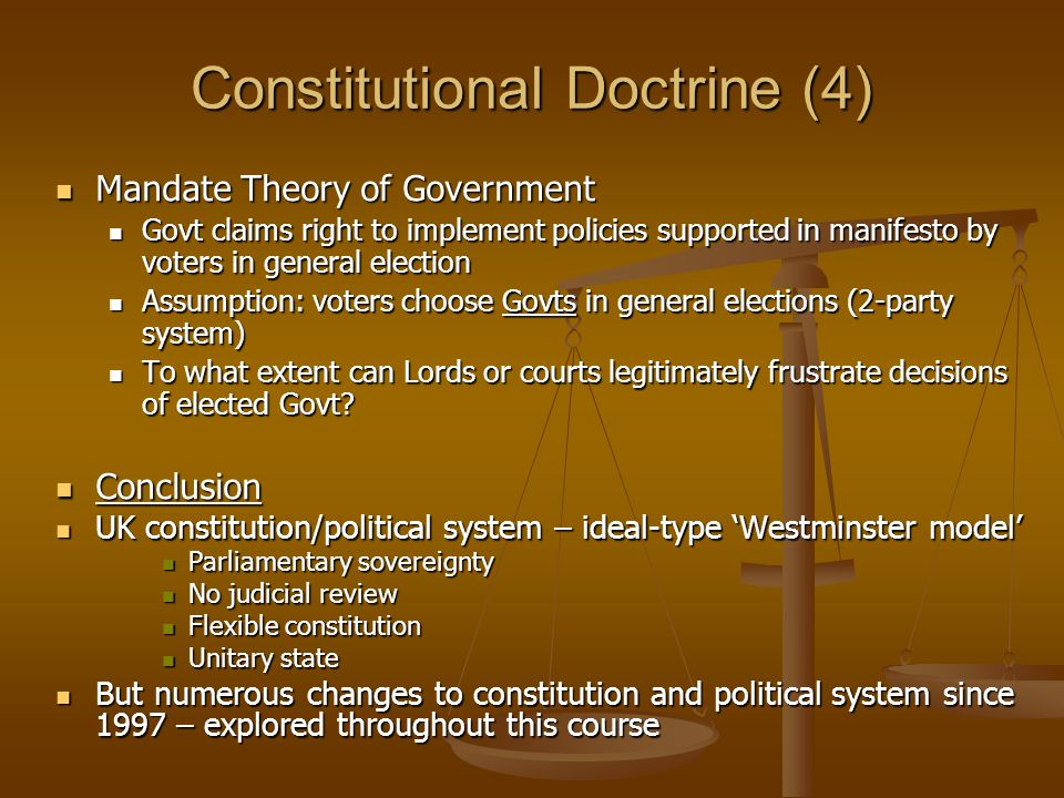 Constitutional Doctrine (4)